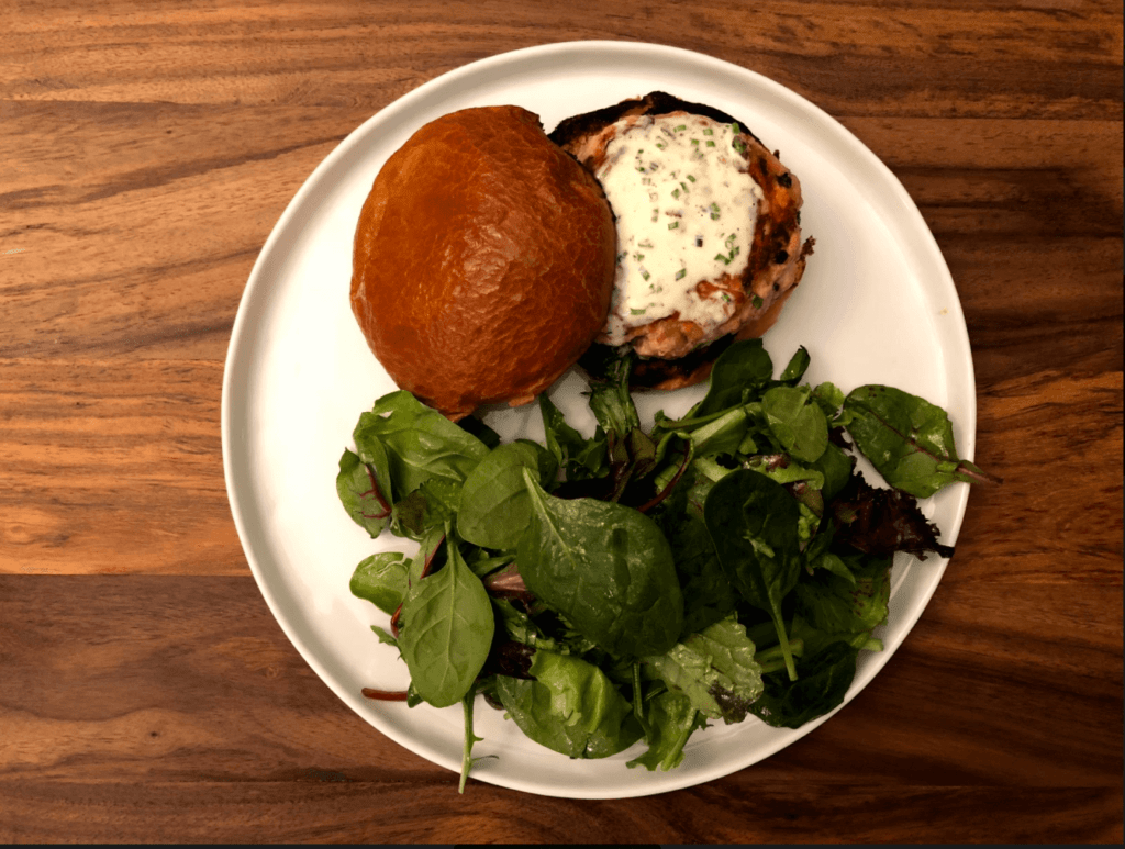 Plated-Salmon Burger