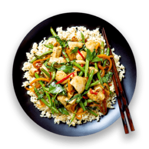 Thai Basil Chicken with Brown Rice