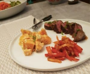 Seared Steaks & Spicy Peppers