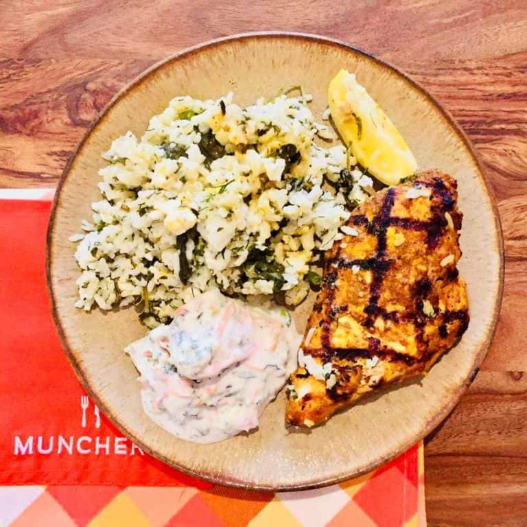Spiced chicken with rice by Munchery