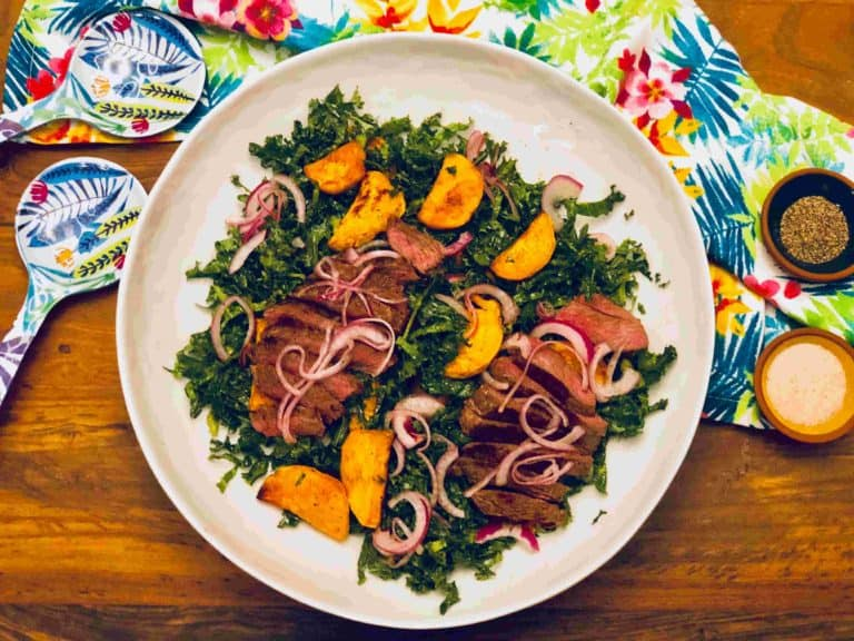 Simple Steak Salad with Sweet Potatoes And Green Chermoula