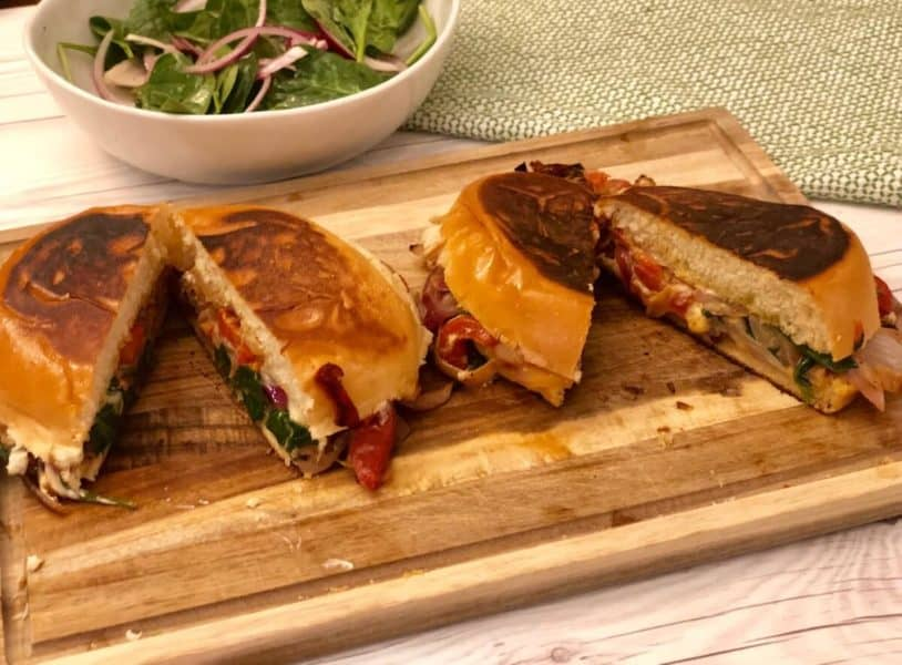Roasted red peppers panini by Dinnerly