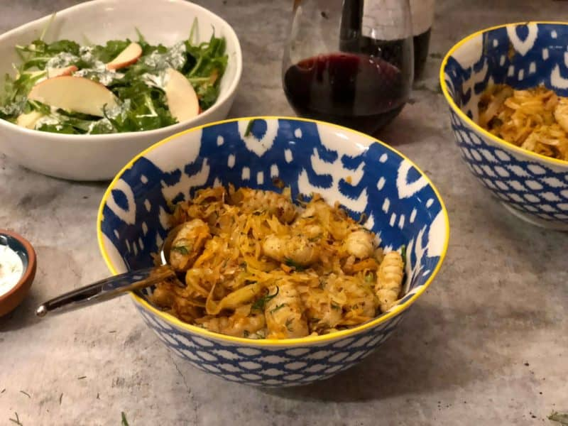 Gnocchi with Dill-Fried Cabbage by Purple Carrot – Review