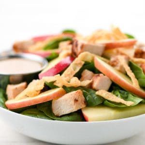 Apple Miso Chicken Crunch Salad