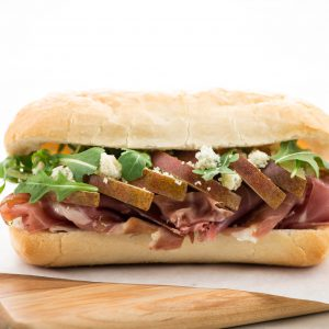Prosciutto, Pear, & Blue Cheese Sandwich