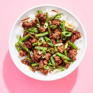 Teriyaki Ginger Beef Bowlwith Green Beans & Rice