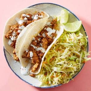 Pork Tacoswith Lime Crema & Homemade Slaw