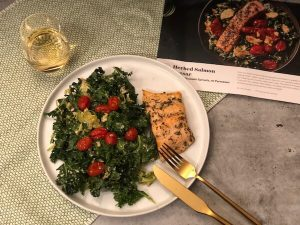 Herbed Salmon Caesar with Kale by Plated