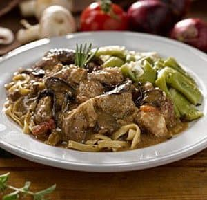 Beef Marsala with Linguine
