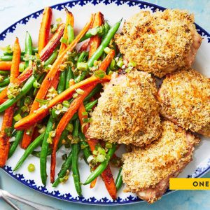 One-Pan Breaded Chicken Thighs
