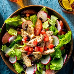Tex-Mex chicken salad with grapefruit and lime-chile vinaigrette