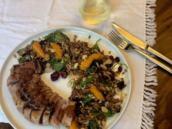Grilled Pork Tenderloin and Peaches
