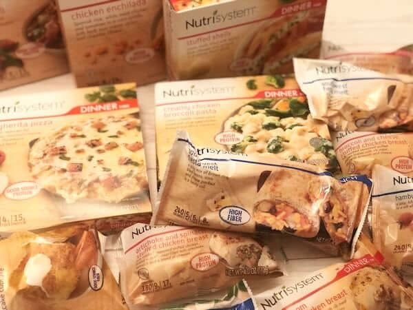 Nutrisystem frozen lunch and dinner